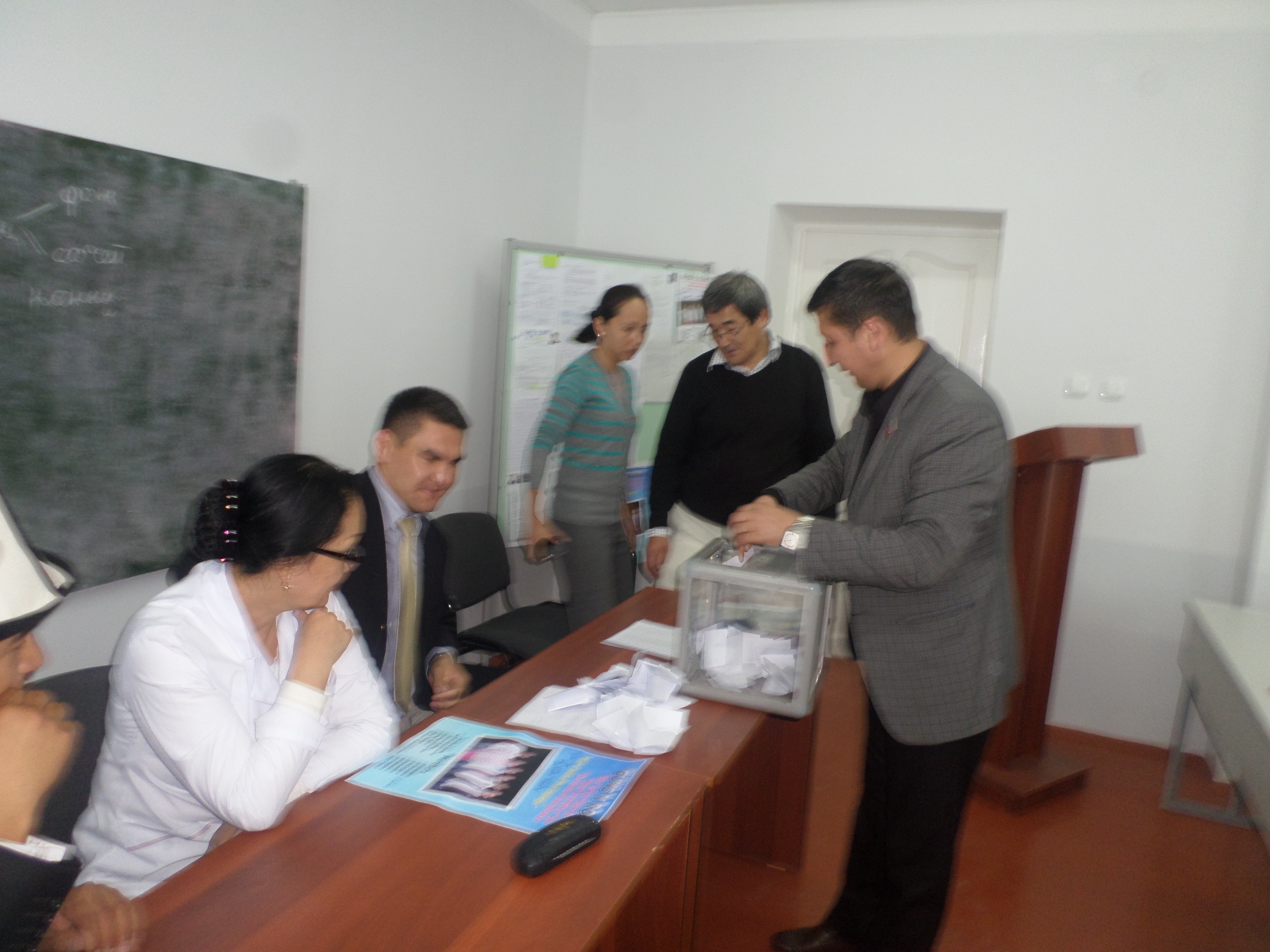 In the international medicine faculty OshSU was conducted the choice of the Youth representative of committee and Ombudsman