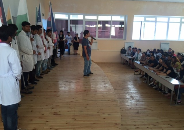 Students educated, to Kyrgyzstan! ', The Medical Faculty of the participants of the international festival of friendship