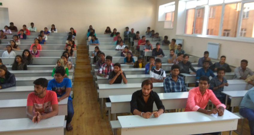 Determination of the base level of knowledge among students of MMF.