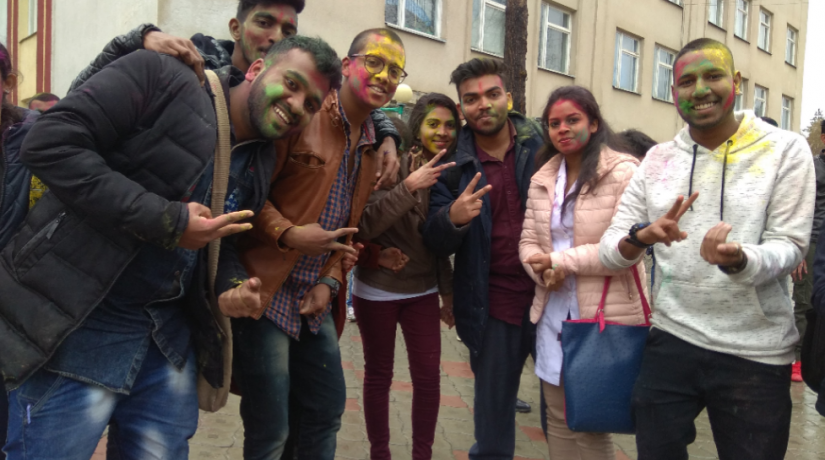 "The popular and ancient Indian holiday ""Holi""."