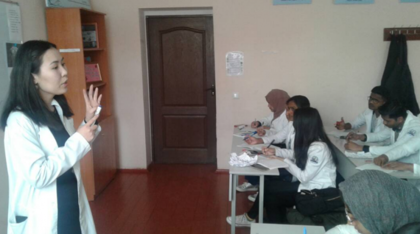 At the International Medical Faculty Osh State University an open lesson was held (the Department of Social and Humanitarian Disciplines)