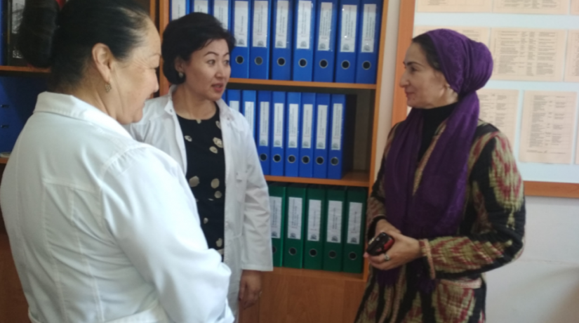 Delegation from the Andijan State University on the visit to SRS department of the International Medical Faculty Osh State University.