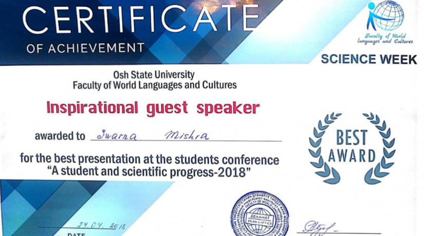 "IMF student took part in the Students Scientific Conference-2018 ""A student and scientific progress"""