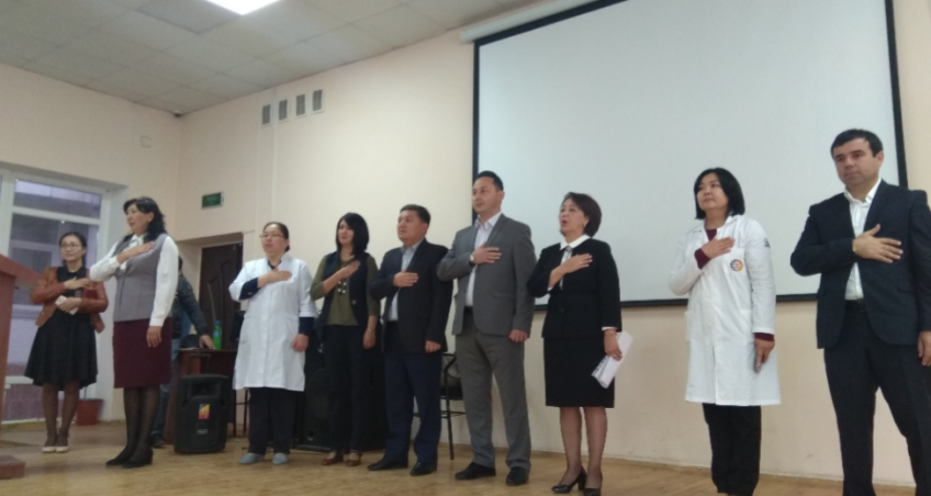 At the International Medical Faculty OshSU, a State Attestation Commission for 6-year students began