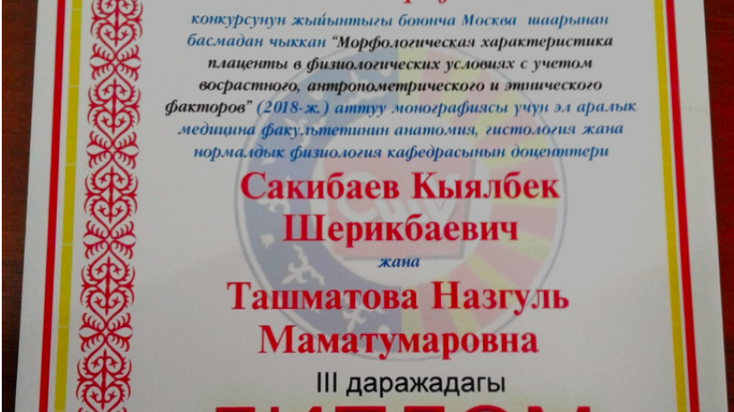 """The results of the contest """"The best monograph of Osh State University – 2019"""""""
