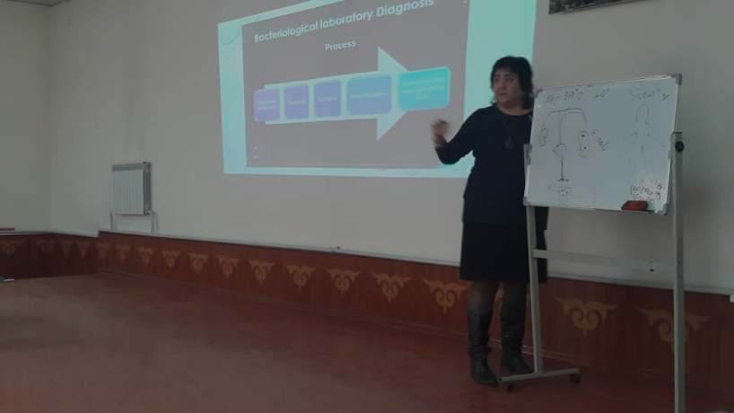 Guest lecturer from Bishkek on the subject of Microbiology